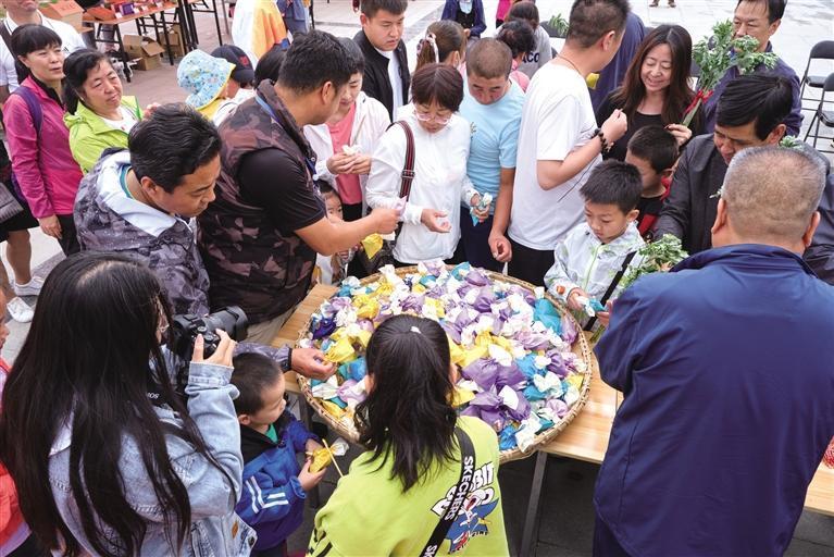民俗文化节上 艾草玩出新花样